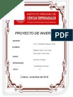 Estructura de Proyecto de Inversión