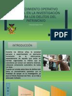 Procedimiento Operativo Policial en La Investigación Contra Los Sanchez Valladares