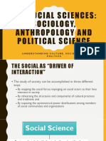 Intersections of Anthro, Socio and Pol Sci