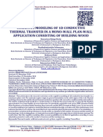 COGNITIVE MODELING OF 1D CONDUCTIVE THERMAL TRANSFER IN A MONO-WALL PLAN-WALL APPLICATION CONSISTING OF BUILDING WOOD