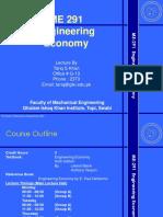 Lecture 1 Engineering Economy