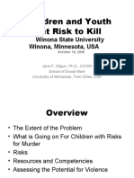 Children & Youth at Risk for Murder