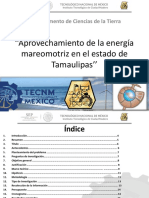 Aprovechamiento de La Energía Mareomotriz en el estado de Tamaulipas