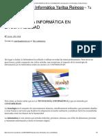 Impacto de La Informática en La Contabilidad _ Introducción a La Informática Yaritsa Reinoso