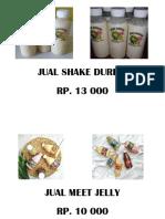 Jual Shake Durian