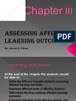 Assesing Affective Outcomes