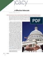 APRIL09 ADVOCACY Effective Advocacy