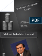 Story of a Successful Leader