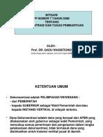 Intisari PP Nomor 7 Tahun 2008 Tentang Dana Dekonsentrasi Dan Tugas Pembantuan
