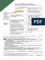 IRS 8233 for NR Alien Filings