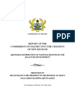 Final Report on Creation of New Regions by Justice Brobbey committee