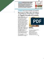 Premiata la filosofia di Urbino
