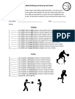 task sheet - basketball