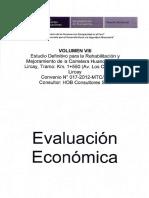 Carretera Huancavelica-lircay Evaluacion Economica Volumen Viii