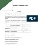 Actividad Económica e Información Contable Parte 1