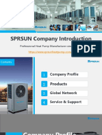 SPRSUN Company Presentation - Professional Heat Pump Manufacturer Since 1999