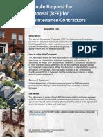 Sample RFP for Maintenance Contractors