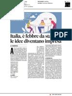 Italia, è febbre da startup, le idee diventano impresa - Il Messaggero del 10 dicembre 2018