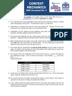 Contest Mechanics MMC Document No. 3
