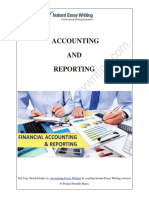 Budgeting of an Organization through Financial Accounting and Reporting