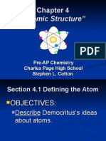 Chapter 4 Atomic Structure