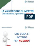 individuazione e gestione del rischio - tutorial - slide
