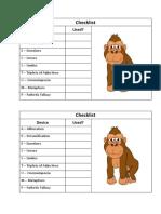 Creative Writing Checklist
