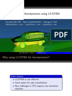 Aerodynamics using LSDYNA