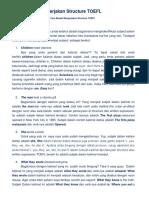 Cara Mudah Mengerjakan Structure TOEFL
