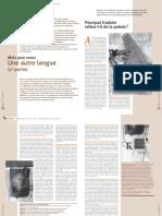 Dossier Une Autre Langue 2 - Memoires n37-38 - Septembre 2007