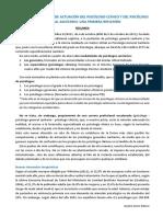Resumen Funciones y Ámbitos de Actuación Del Psic. Clínico y Del Pgs