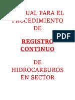 1.- Manual Para El Procedimiento de Registro Contonui de Hudorcarburo en Sector Oil and Gas