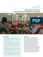 Supporting roll-out of revised dengue prevention and control guidelines in Myanmar