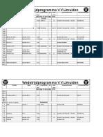 2018-12-15 schema VV IJmuiden