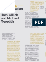 A Conversation Between Michael Meredith and Liam Gillick