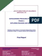 Association of Directors of Children's Services, LTD, Safeguarding Pressures Project Phase 2