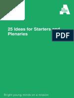 Tutor Resource - Starter and Plenary Ideas