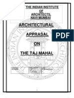 Architectural Appraisal  On Tajmahal  for INDIAN INSTITUTE OF ARCHITECTS EXAMINATION(PART-2)
