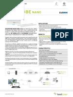 TestTree EdgeProbe Nano DVB-CC2 Datasheet Web