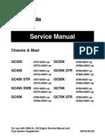 Caterpillar Cat GC70K STR Forklift Lift Trucks Service Repair Manual SN:AT89A-00001 and up.pdf