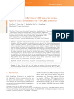 Analysis and Prediction of 100km Scale Atmospheric Duct Interference in TD-LTE Networks