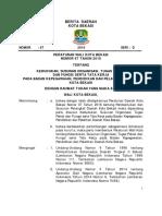 Kedudukan, Susunan Organisasi, Tugas Pokok Dan Fungsi Serta Tata Kerja Pada Badan Kepegawaian, Pendidikan Dan Pelatihan Daerah Kota Bekasi