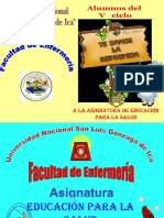 I tema EDUCACION PARA LA SALUD 1  semana 2014 (1).pptx