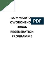 Summary of Oworonshoki Urban Regeneration Programme
