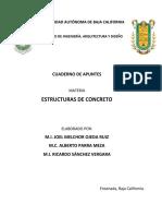 Cuaderno de apuntes para Estructuras de Concreto Joel Alberto Ricardo.pdf