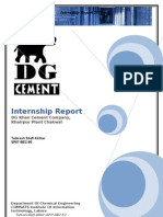 DG Cement Khairpur Internship Report (More Info Added and more explained)