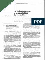 La Independencia e Imparcialidad