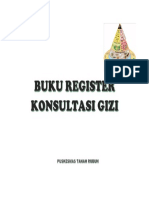 Buku Register Konsultasi Gizi