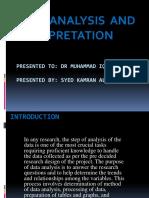 Data Analysis and Interpretation 011218