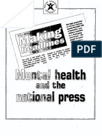 Mental health and the national press